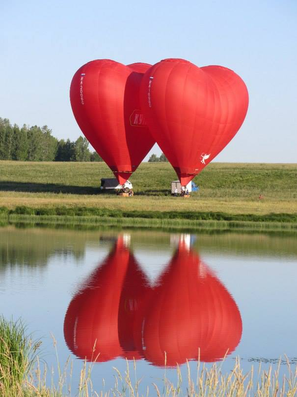 Valentine Day Two Heart Balloon