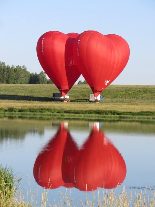 Valentine Day Two Heart Balloon