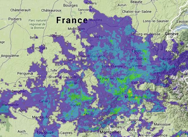 Rain in Vichy at 20-04-2014