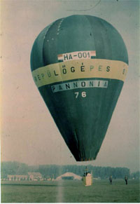 Pannonia - the first hot air balloon