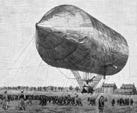 The first rigged airship